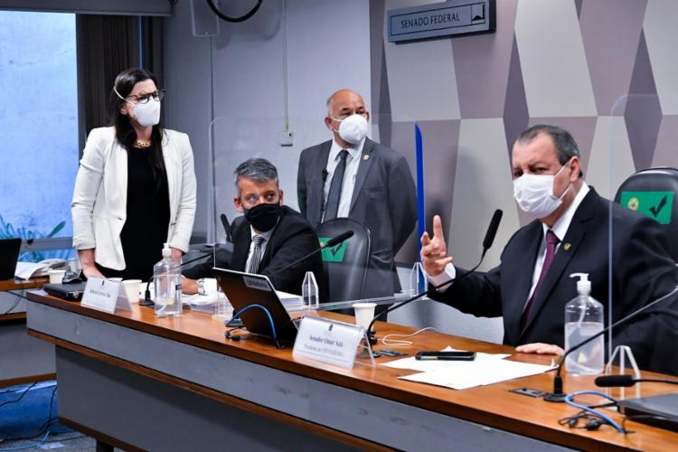 Voz de prisão ao ex-diretor foi dada pelo presidente da CPI, senador Omar Aziz | Foto: Waldemir Barreto | Agência Senado - Foto: Waldemir Barreto | Agência Senado