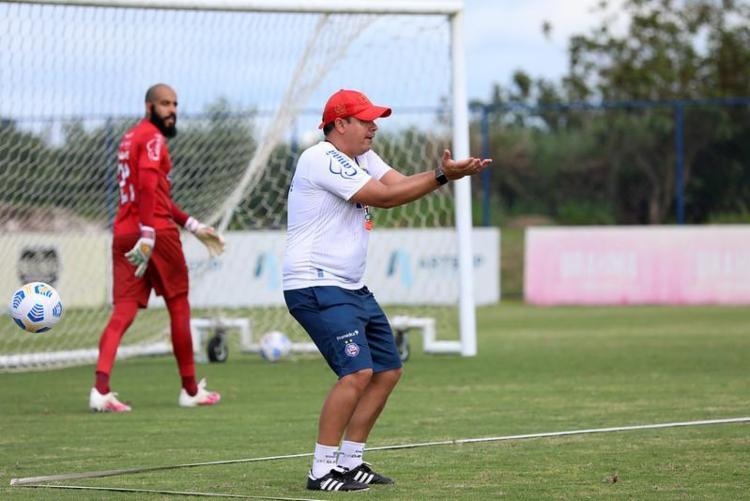 Técnico pernambucano aproveitou a ocasião para relembrar seus feitos com a equipe e agradecer à torcida, funcionários e atletas - Foto: Felipe Oliveira   EC Bahia