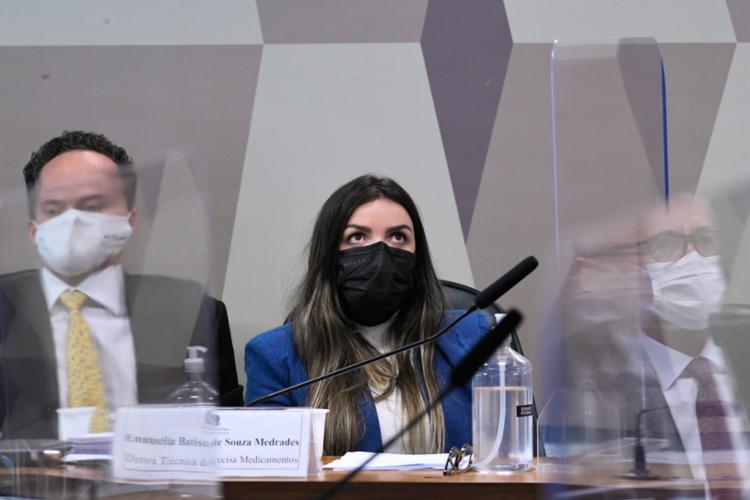 Presta depoimento no colegiado nesta quarta-feira a diretora técnica da empresa, Emanuela Medrades - Foto: Edilson Rodrigues   Agência Senado