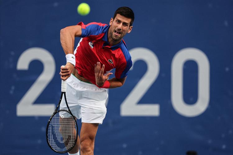 Djokovic venceu com facilidade por 6-3 e 6-1 o espanhol Alejandro Davidovich | Foto: Giuseppe Cacace | AFP - Foto: Giuseppe Cacace | AFP