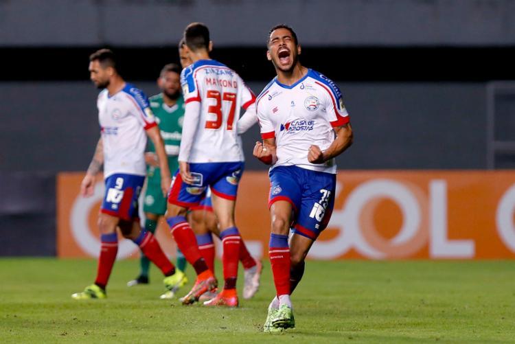 Jovem Matheus Bahia marcou seu primeiro gol na Série A no triunfo diante do Juventude | Foto: Felipe Oliveira | EC Bahia - Foto: Felipe Oliveira | EC Bahia