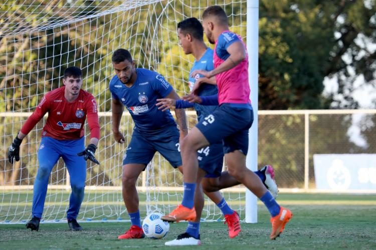 As atividades visaram os aspectos táticos e lances de bola parada | Foto: Felipe Oliveira | EC Bahia - Foto: Felipe Oliveira | EC Bahia