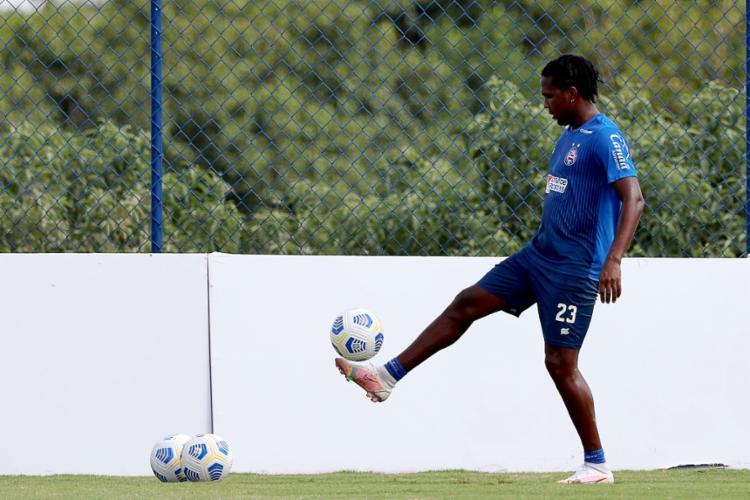 Além do treino técnico, os jogadores ainda se exercitaram na academia do clube   Foto: Felipe Oliveira   EC Bahia - Foto: Felipe Oliveira   EC Bahia