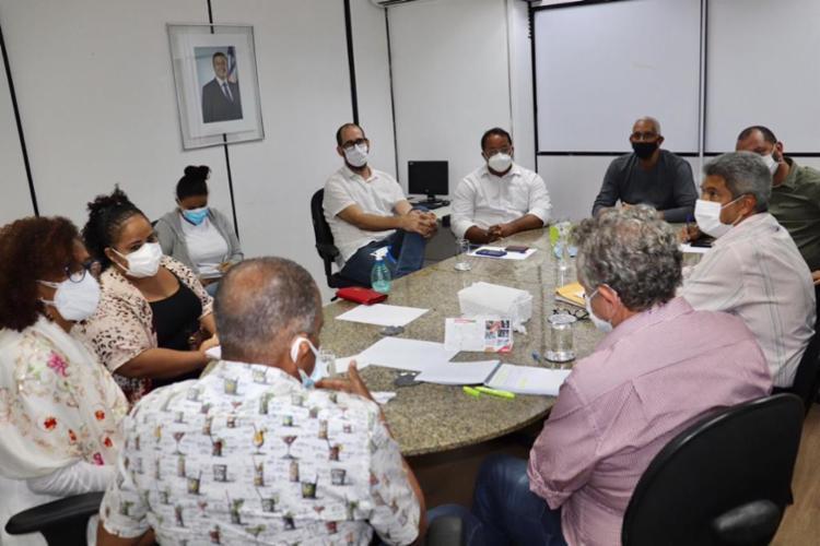 Representantes da APLB, da SEC e da Serin se reuniram para discutir volta às aulas na Bahia | Foto: Serin/GovBa - Foto: Serin/GovBa