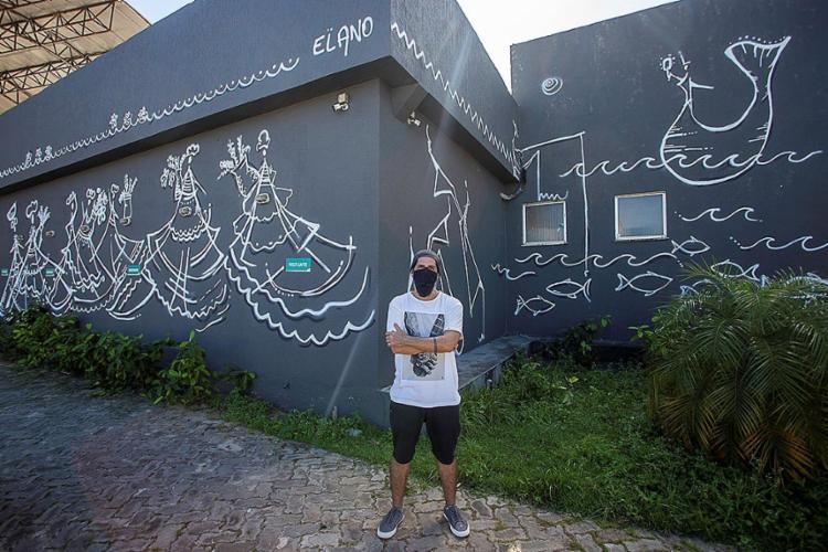 Elano Passos assina uma intervenção artística de 160 m² em Lauro de Freitas   Foto: André Fofano   Divulgação - Foto: André Fofano   Divulgação