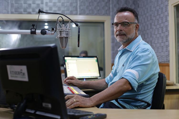 Jefferson Beltrão exaltou a parceria que será construída com Godoy na A TARDE FM | Foto: Raul Spinassé | Ag. A Tarde | 26.2.2019