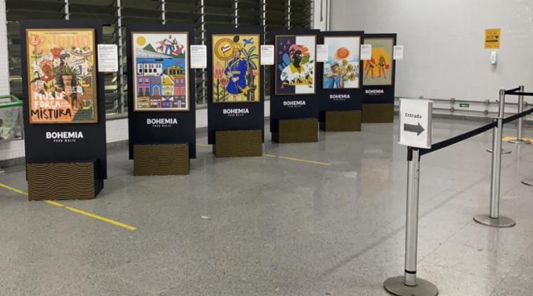 Obras estão expostas no mezanino da estação | Foto: Divulgação - Foto: Divulgação