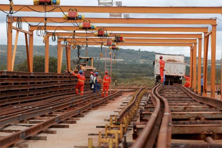 A Ferrovia de Integração Oeste-leste contará com aproximadamente 1.527 km de extensão, estabelecendo a ligação entre o Porto Sul em Ilhéus (BA) e o município de Figueirópolis (TO)   Foto: Elói Corrêa   Gov-BA - Foto: Elói Corrêa   Gov-BA