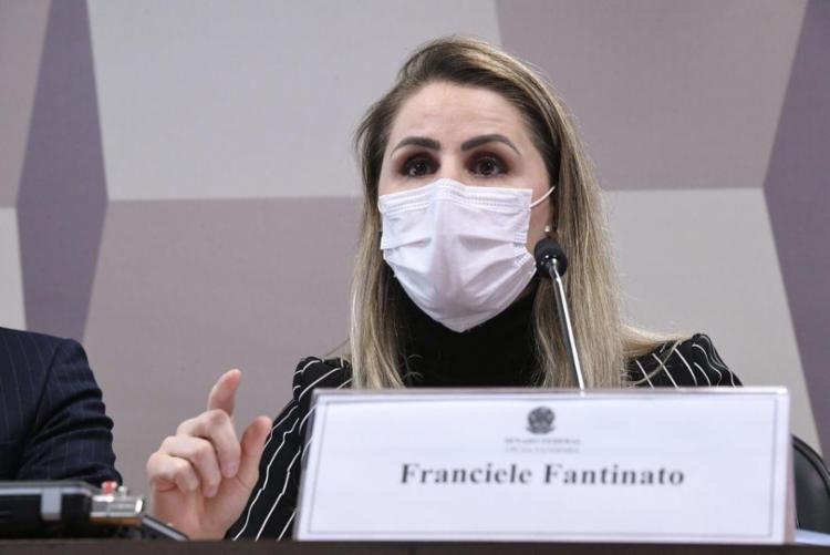 Franciele Fantinato, ex-coordenadora do Plano Nacional de Imunização, prestou depoimento à CPI da Covid-19 nesta quinta-feira, 8 - Foto: Edilson Rodrigues | Ag. Senado