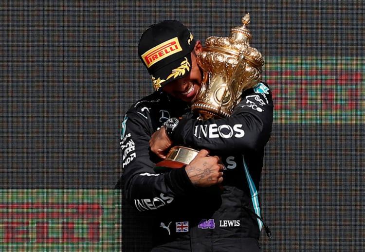 Heptacampeão venceu o GP`de Silverstone   Foto: Adrian Dennis   AFP - Foto: Adrian Dennis   AFP