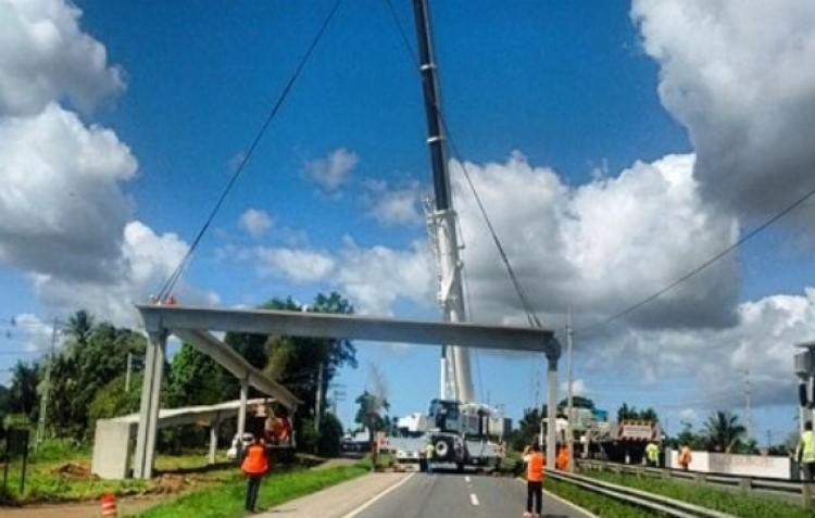 Rodovia federal terá o fluxo de veículos interditado em horários e sentidos determinados   Foto: Reprodução   Via Bahia - Foto: Reprodução   Via Bahia