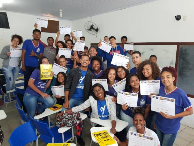 A JuniorAchievement tem 75.651 jovens beneficiados e 468 escolasparceiras na Bahia   Foto: Divulgação - Foto: Divulgação