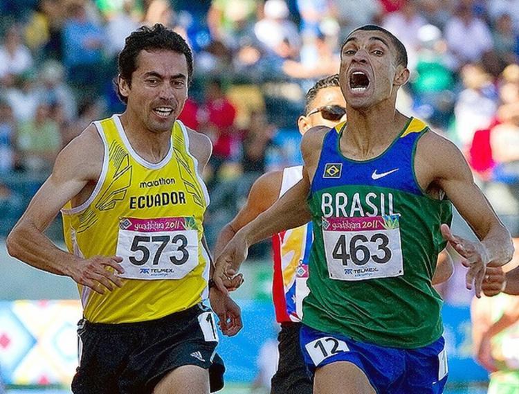 Leandro foi medalhista de ouro nos 1.500 metros do Pan de Guadalajara, em 2011   Foto: Arquivo   AFP - Foto: Arquivo   AFP