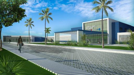 Com 14 mil m² de área construída, o hospital contará com equipamentos de última geração.