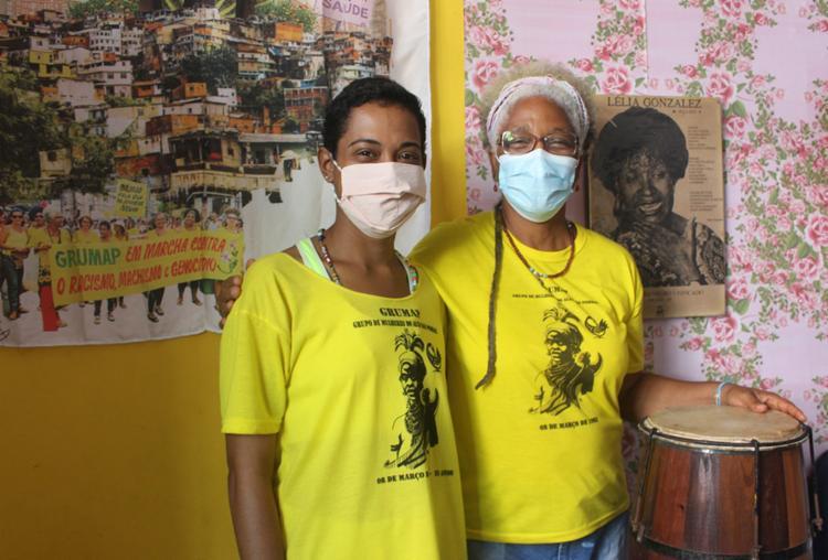 Luciana e Rita fazem parte do Grumap, grupo formado por mulheres ativistas | Foto: Brenda Gomes | Ag. Mural - Foto: Brenda Gomes | Ag. Mural