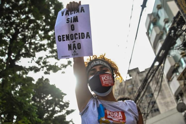 Manifestantes se concentraram na Praça do Campo Grande | Foto: Felipe Iruatã | Ag. A TARDE - Foto: Felipe Iruatã | Ag. A TARDE