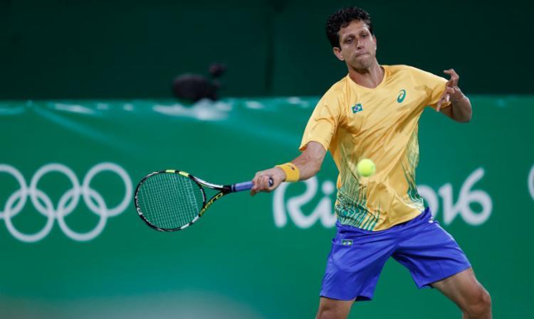 Ao lado do amigo Bruno Soares, tenista busca a inédita medalha   Foto: Fernando Frazão   Agência Brasil - Foto: Fernando Frazão   Agência Brasil