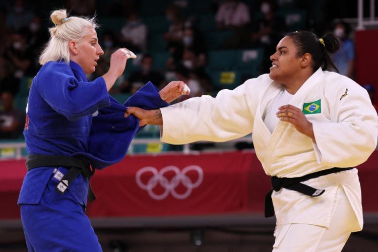 Brasileira lesionou o joelho e está fora das Olimpíadas | Foto: Jack Guez | AFP - Foto: Jack Guez | AFP