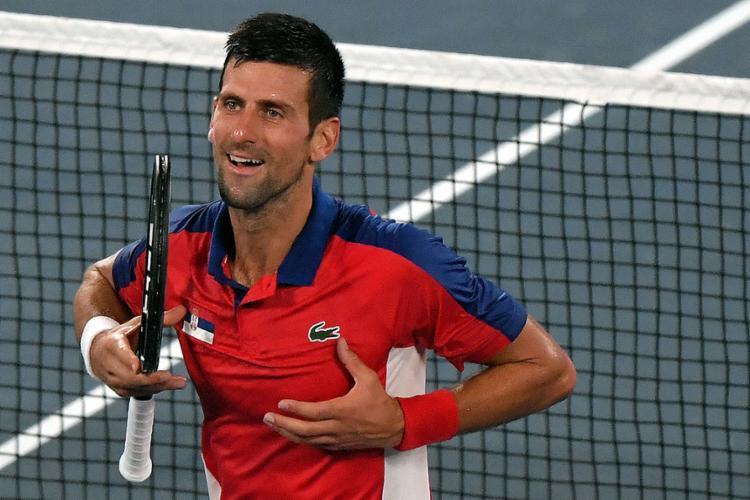 O líder do ranking mundial conseguiu a 22ª vitória consecutiva e mantém o sonho de conquistar o Golden Slam   Foto: Tiziana FABI   AFP - Foto: Tiziana FABI   AFP