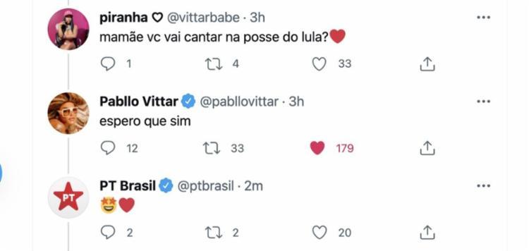 Pablo Vittra foi questionada sobre o assunto por um seguidor | Foto: Reprodução