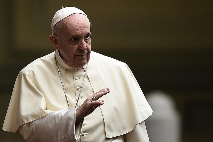 Francisco chegou no hospital por volta das 14h30 | Foto: Filippo Monteforte | AFP - Foto: Filippo Monteforte | AFP