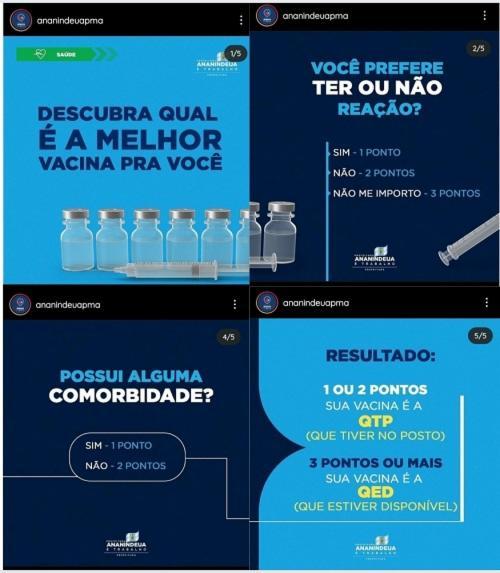 Prefeitura de Ananindeaua, no Pará, investe em campanha de conscientização para evitar sommeliers de vacina