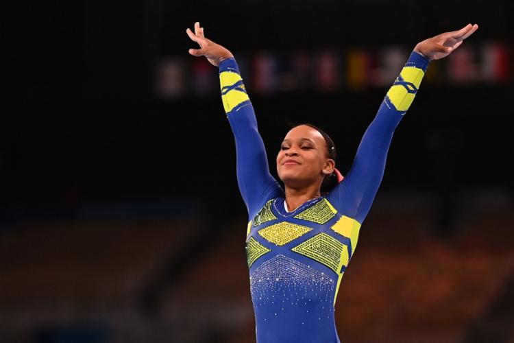 Rebeca Andrade, de 22 anos, conseguiu a primeira medalha olímpica do Brasil na ginástica | Foto: Loic Venance | AFP - Foto: Loic Venance | AFP