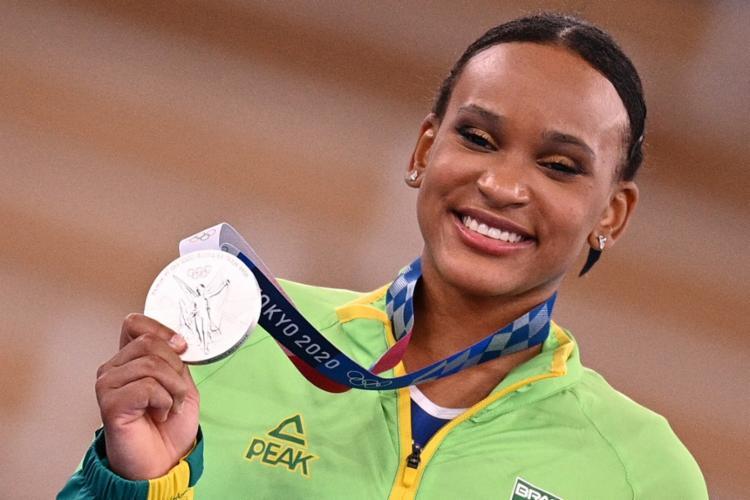 Rebeca superou três lesões no ligamento do joelho para chegar às Olimpiadas | Foto: Martin Bureau | AFP - Foto: Martin Bureau | AFP