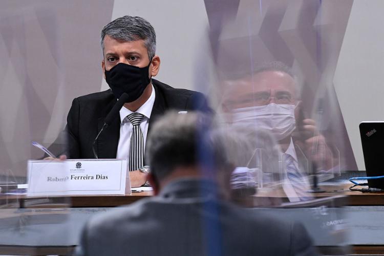 Dias foi acusado pelo senador Omar Aziz de ter mentido em seu depoimento na CPI   Foto: Edilson Rodrigues   Agência Senado - Foto: Edilson Rodrigues   Agência Senado