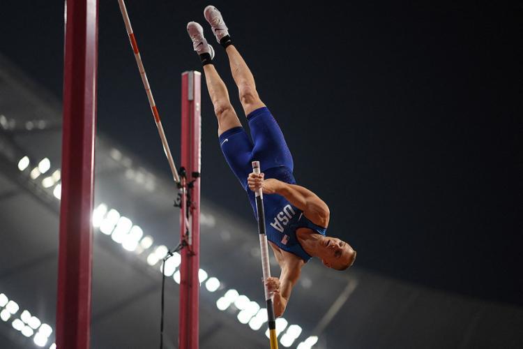O atleta americano, bronze nos Jogos do Rio, está isolado em um hotel, acrescentou o comitê americano | Foto: Kirill Kudryavtsev | AFP - Foto: Kirill Kudryavtsev | AFP