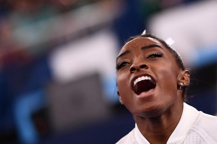 A ginasta americana disse já não confiar mais tanto em si mesma   Foto: Loic Venance   AFP - Foto: Loic Venance   AFP