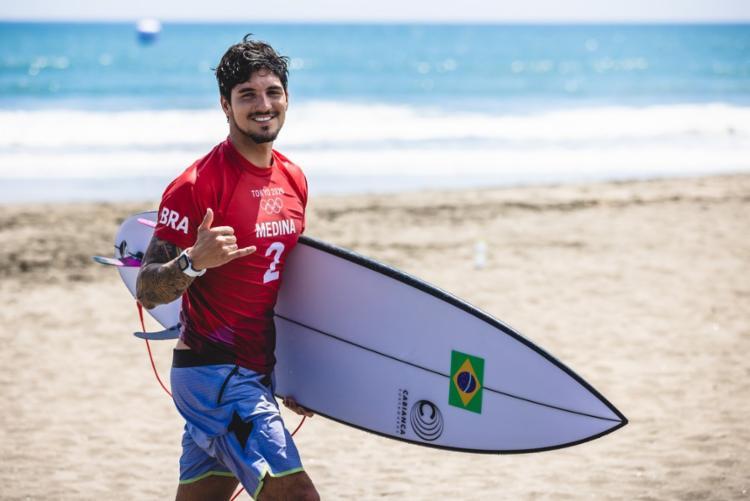 Brasileiro Gabriel Medina é o grande favorito ao ouro do surfe masculino | Foto: Miriam Jeske | COB - Foto: Miriam Jeske | COB