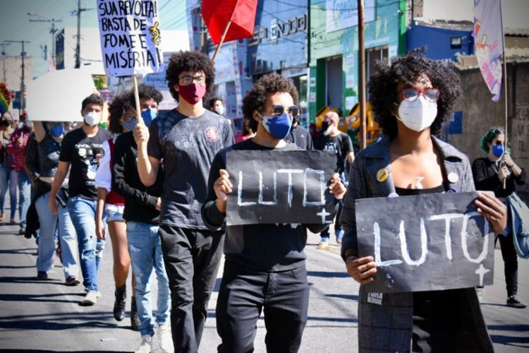 Manifestantes em Vitória da Conquista participaram do ato | Foto: Divulgação