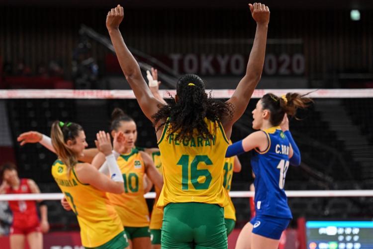 O Brasil continua na segunda posição no grupo A, atrás da líder Sérvia   Foto: Angela Weiss   AFP - Foto: Angela Weiss   AFP