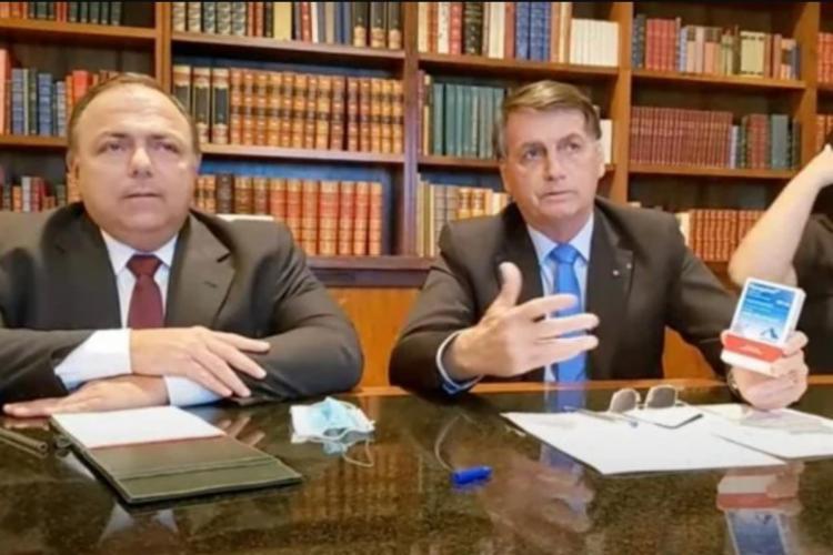 Presidente promoveu medicamentos sem eficácia e atacou o uso de máscaras - Foto: Reprodução | Youtube