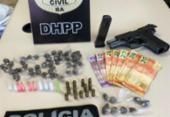 Homem é preso com arma, drogas e dinheiro na Federação | Foto: Divulgação | Ascom PC