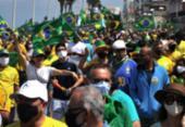 Manifestantes realizam ato em defesa de Bolsonaro e voto impresso em Salvador | Foto: Felipe iruatã | Ag. A Tarde