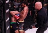 Patrício Pitbull é finalizado por AJ Mckee e perde título peso-pena do Bellator | Foto: Divulgação | Bellator