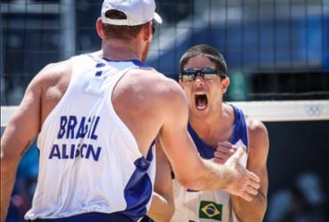 Volei de praia: Alison e Álvaro atropelam dupla mexicana e vão às quartas de final | Wander Roberto | COB