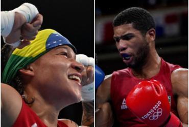 Baianos Bia e Hebert lutam por vagas na final do boxe nesta quinta | Luis Robayo e Themba Hadebe | AFP