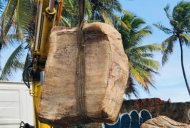 Caixas 'misteriosas' são encontradas na Praia do Flamengo | Divulgação | Limpurb