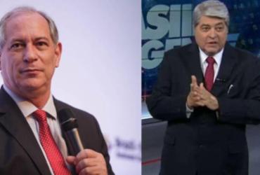 Ciro Gomes quer Datena como vice na corrida presidencial, diz colunista | Divulgação