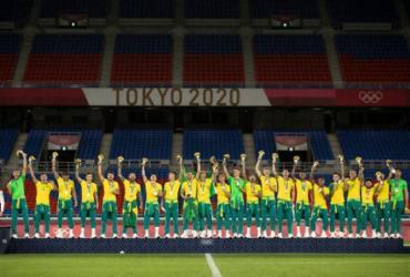 COB repudia futebol masculino por atitude em pódio olímpico |