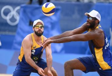 Vôlei de praia: Evandro e Bruno são eliminados nas oitavas |