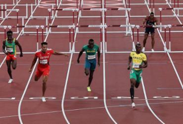 Atletismo: Gabriel Constantino não passa à final dos 110m com barreiras | Giuseppe Cacace | AFP
