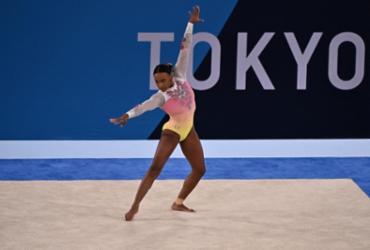Rebeca Andrade fica em quinto no solo e encerra sua participação nas Olimpíadas | Lionel Bonaventure | AFP