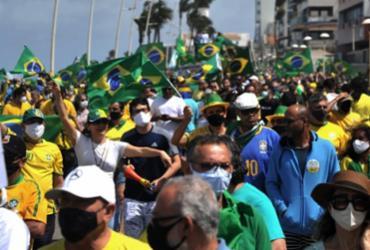 Manifestação em defesa de Bolsonaro |
