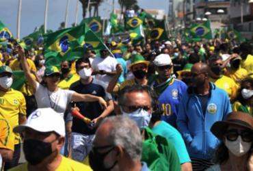 Manifestantes realizam ato em defesa de Bolsonaro e voto impresso em Salvador | Felipe iruatã | Ag. A Tarde