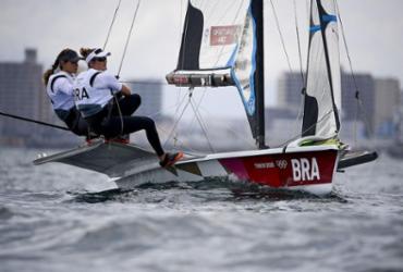 Martine e Kahena vão à regata final da 49er FX nesta terça-feira | Olivier Morin | AFP