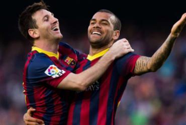 Messi parabeniza Daniel Alves por ouro: 'Vou lutar para alcançá-lo' | Reprodução